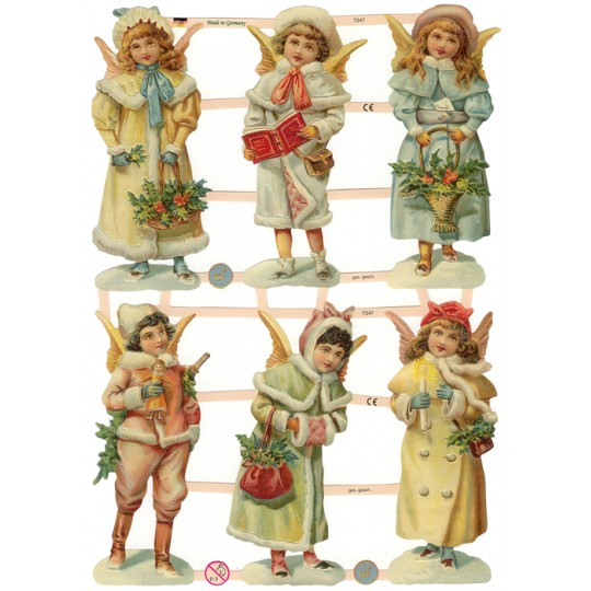 Victorian Snow Angels Scraps ~ Germany ~ New for 2012